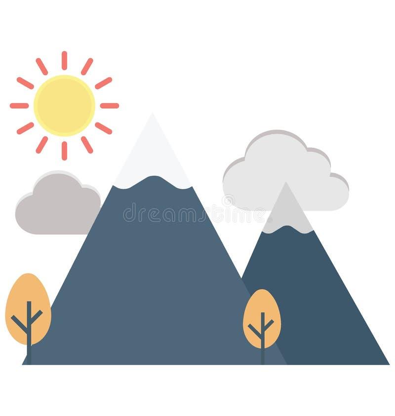 Значок вектора цвета ландшафта который может легко доработать или отредактировать бесплатная иллюстрация