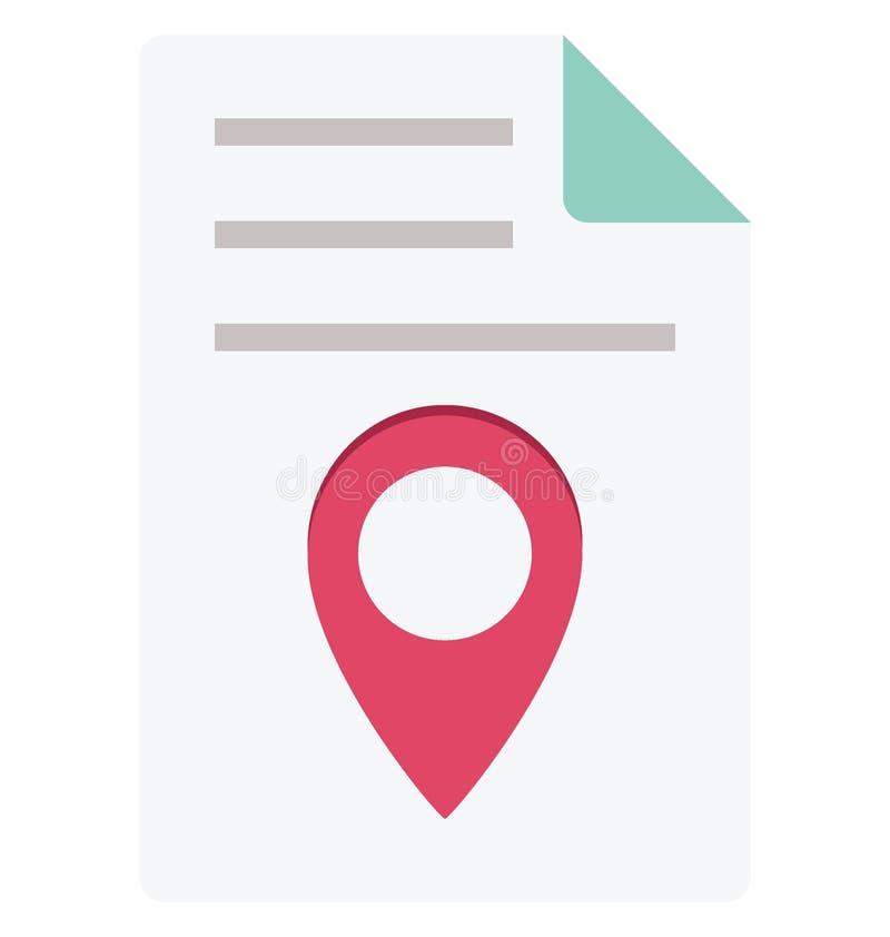 Значок вектора цвета локатора карты который может легко доработать или отредактировать бесплатная иллюстрация