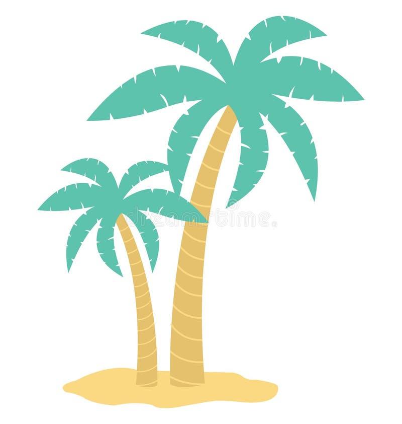 Значок вектора цвета пальмы который может легко доработать или отредактировать бесплатная иллюстрация