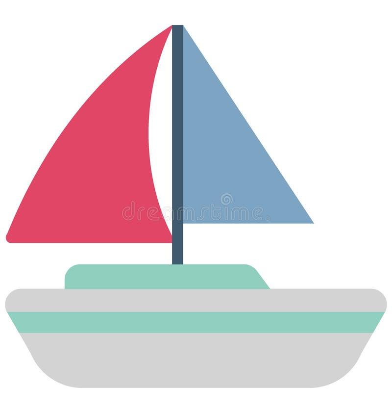 Значок вектора цвета парусника который может легко доработать или отредактировать иллюстрация штока