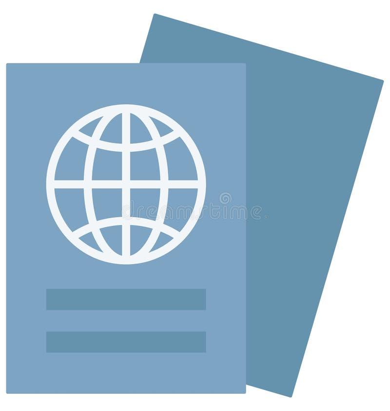 Значок вектора цвета паспорта который может легко доработать или отредактировать иллюстрация вектора