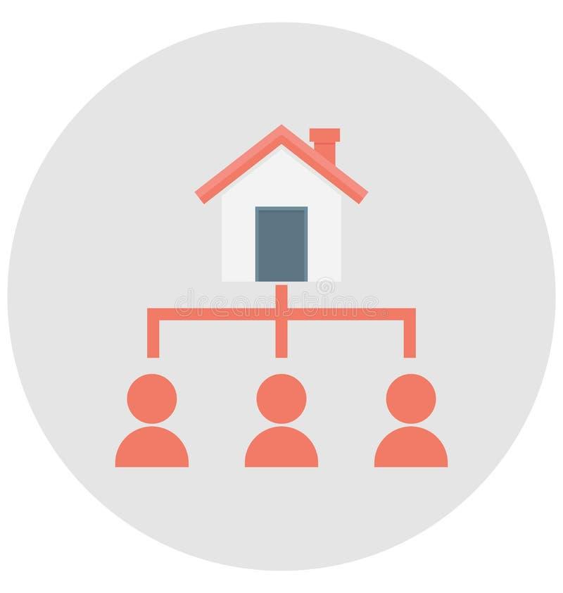 Значок вектора цвета плана проекта который можно легко доработать или редактировать иллюстрация вектора