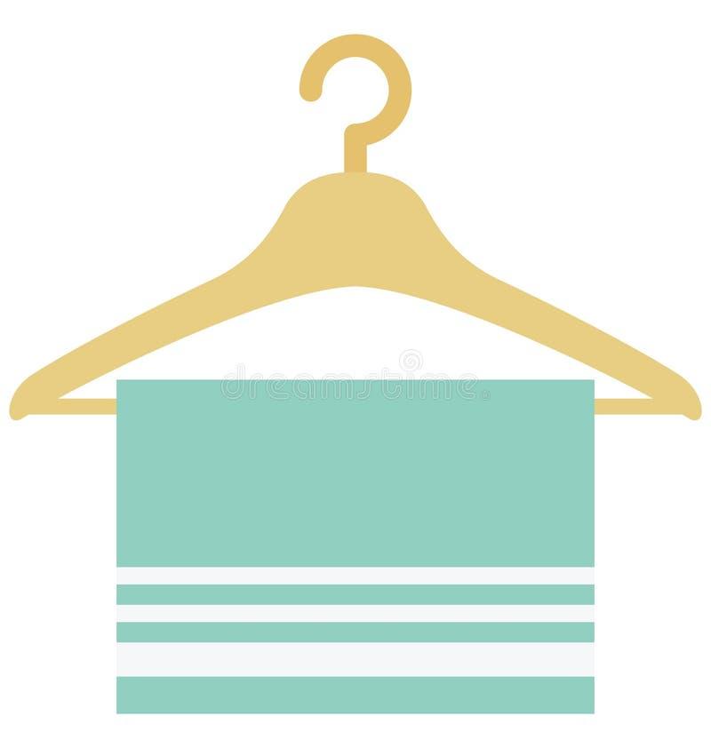 Значок вектора цвета полотенца Towe который может легко доработать или значок вектора цвета editl который может легко доработать  иллюстрация штока