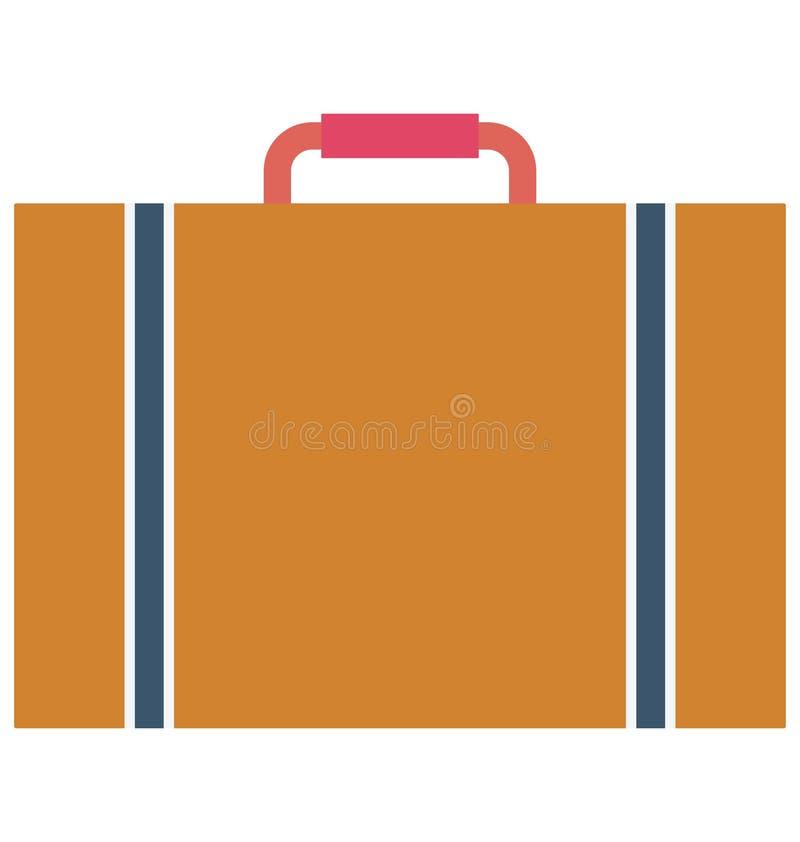 Значок вектора цвета портфеля который может легко доработать или отредактировать иллюстрация штока