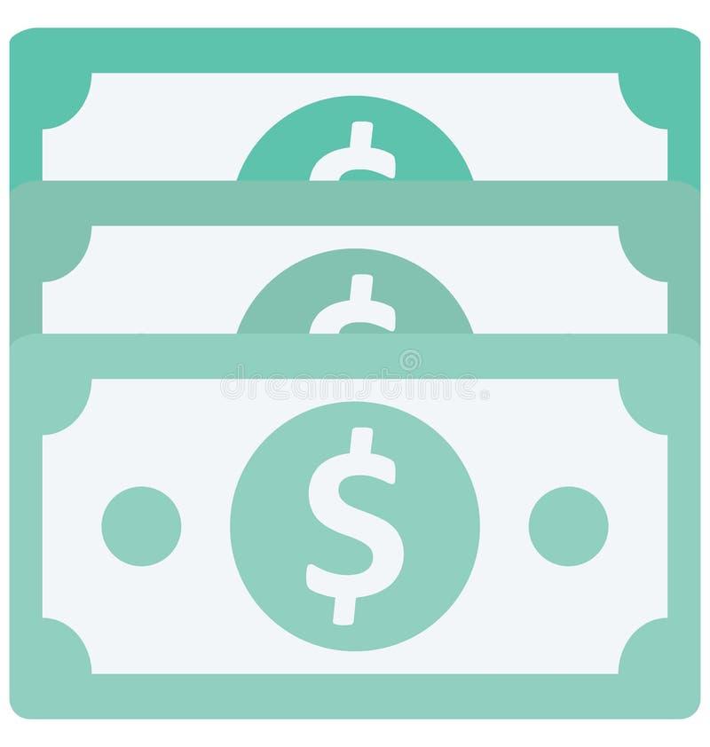 Значок вектора цвета примечания доллара который может легко доработать или отредактировать иллюстрация вектора
