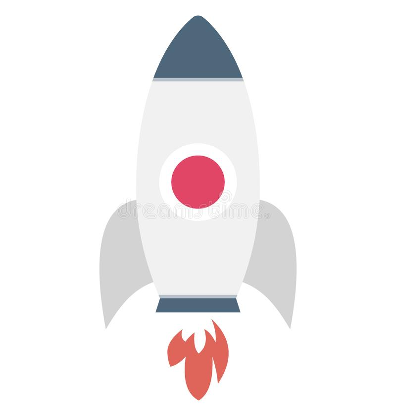 Значок вектора цвета Ракеты который может легко доработать или отредактировать иллюстрация штока