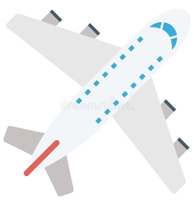 Значок вектора цвета самолета который может легко доработать или отредактировать бесплатная иллюстрация