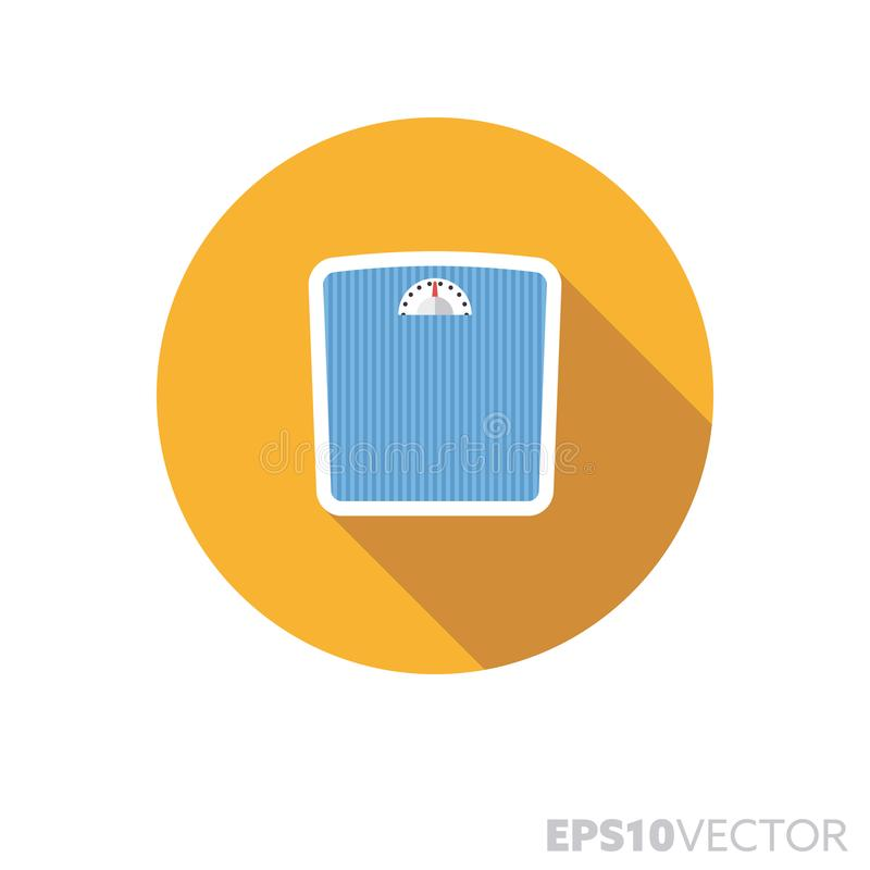 Значок вектора цвета тени плоского дизайна масштабов Bathroom длинный иллюстрация вектора