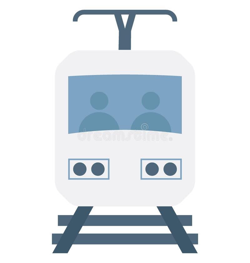 Значок вектора цвета трамвая который может легко доработать или отредактировать иллюстрация вектора