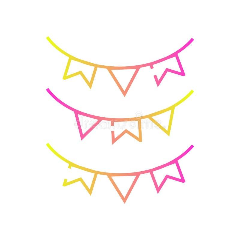 Значок вектора цвета украшения праздника бесплатная иллюстрация