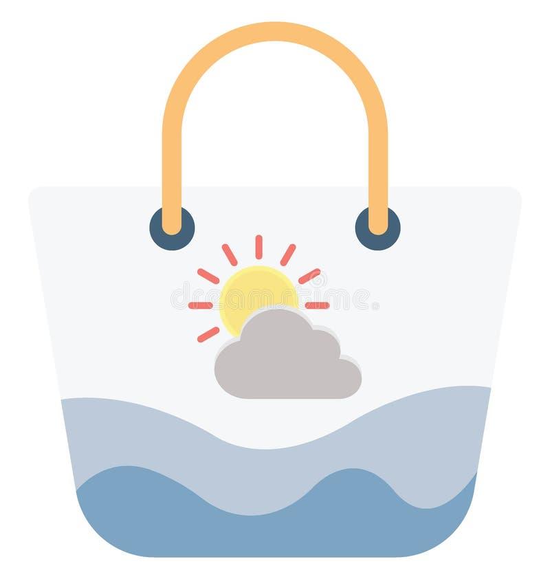 Значок вектора цвета хозяйственной сумки который может легко доработать или отредактировать бесплатная иллюстрация