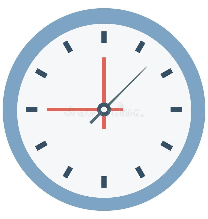 Значок вектора цвета часов который может легко доработать или отредактировать бесплатная иллюстрация