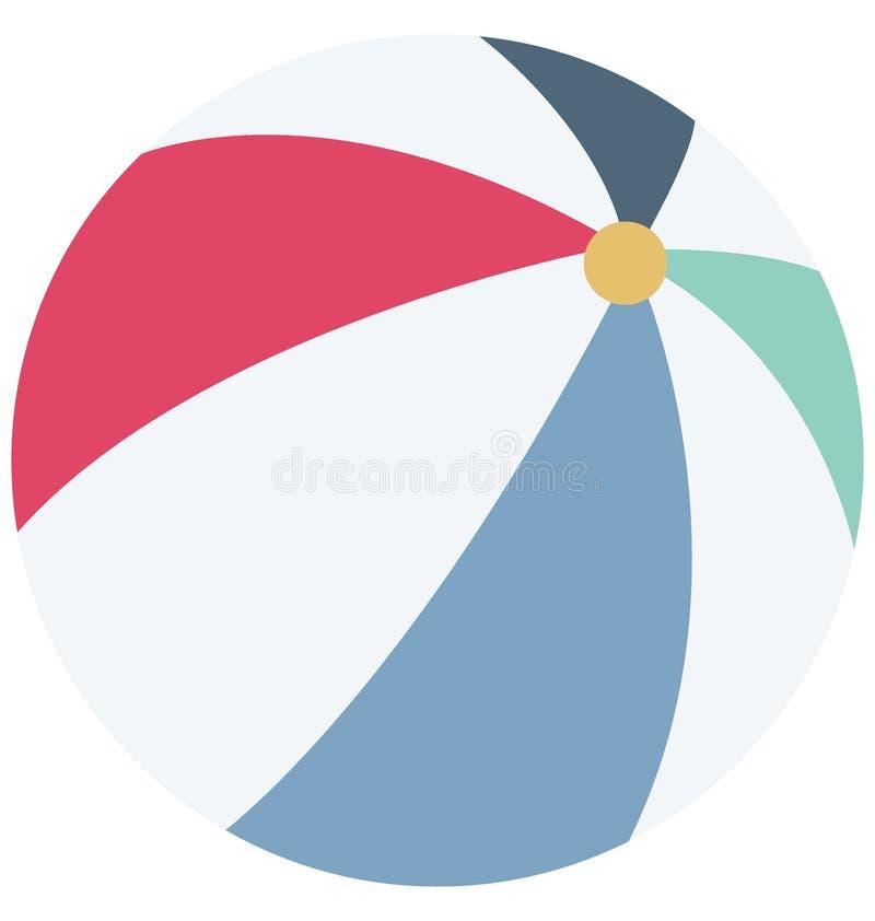 Значок вектора цвета шарика пляжа который может легко доработать или отредактировать иллюстрация штока