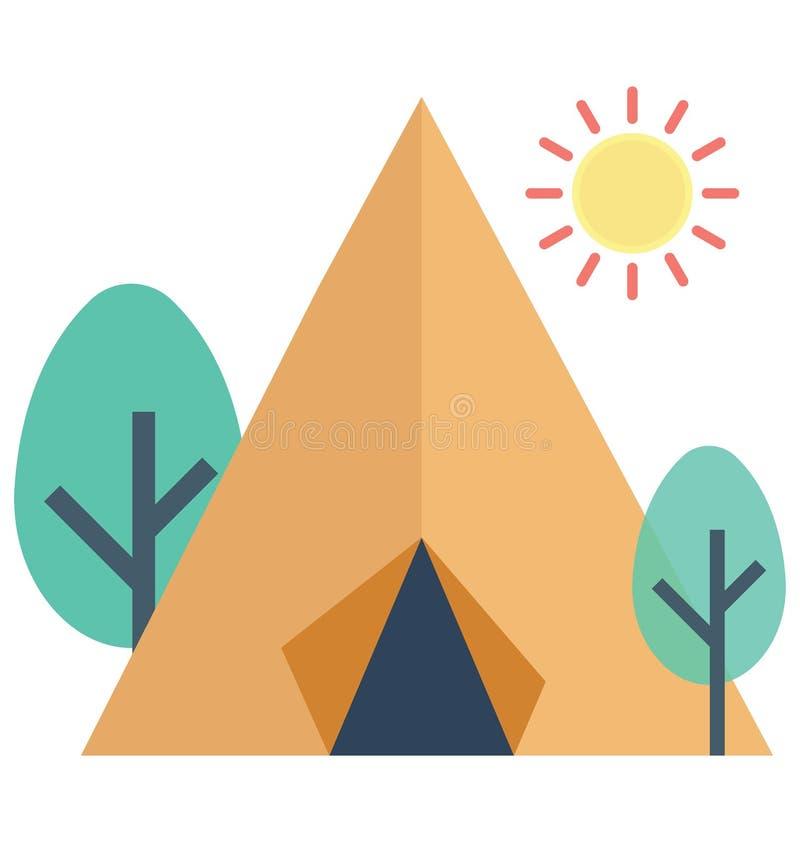 Значок вектора цвета шатра который может легко доработать или отредактировать бесплатная иллюстрация