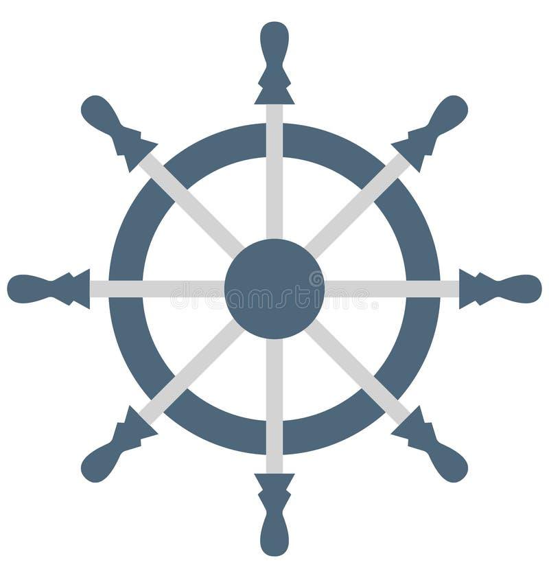 Значок вектора цвета шлюпки управляя который может легко доработать или отредактировать иллюстрация вектора