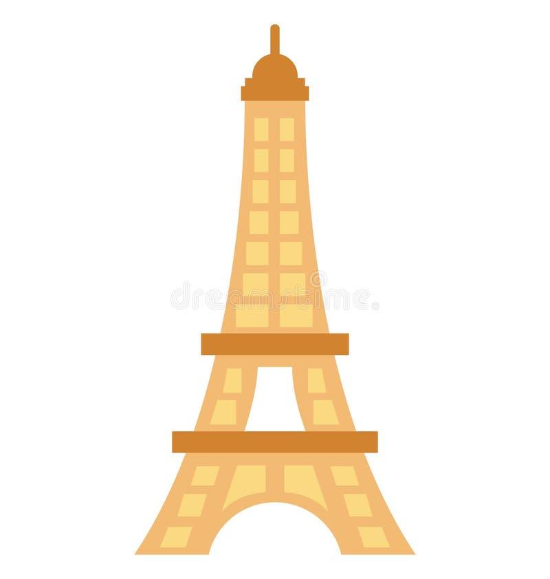 Значок вектора цвета Эйфелевой башни который может легко доработать или отредактировать бесплатная иллюстрация
