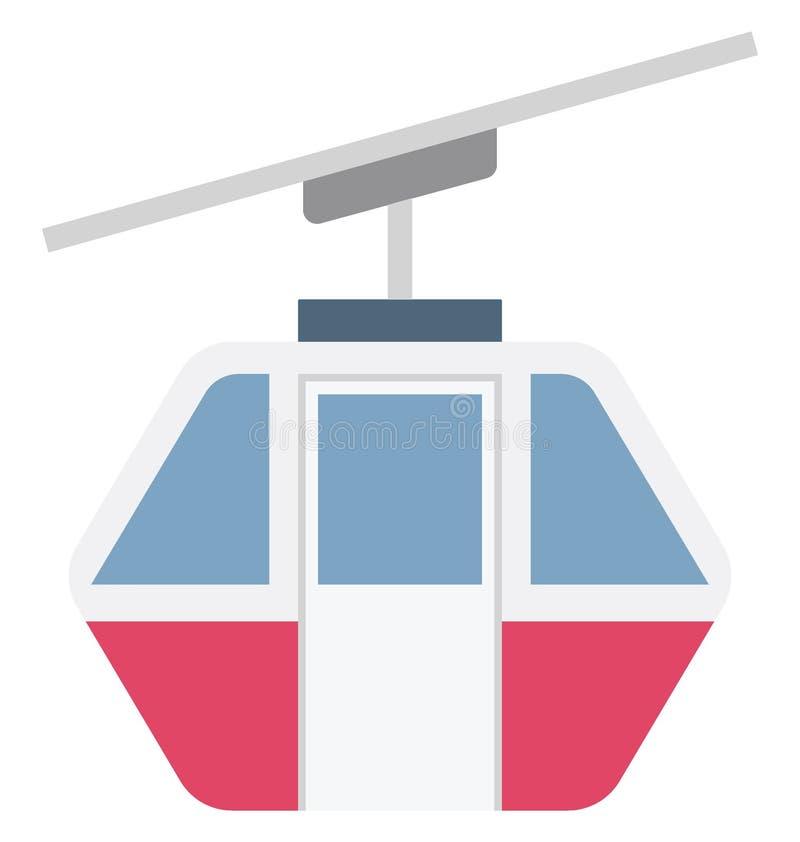 Значок вектора цвета Ropeway который может легко доработать или отредактировать бесплатная иллюстрация