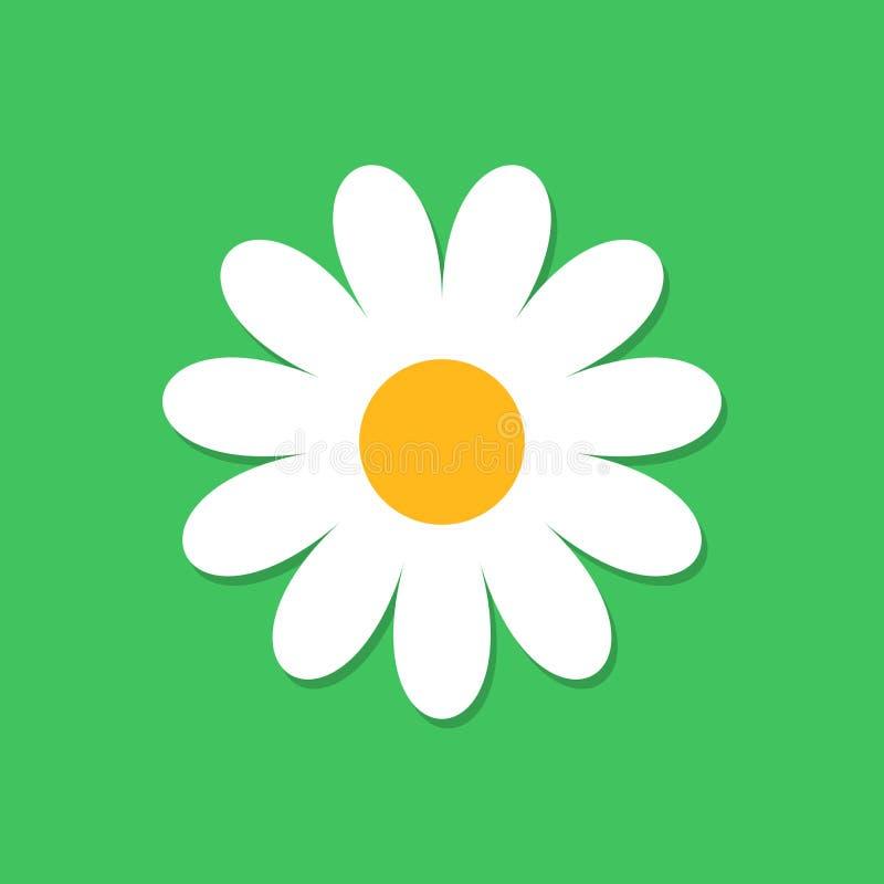 Значок вектора цветка стоцвета в плоском стиле Иллюстрация o маргаритки иллюстрация штока
