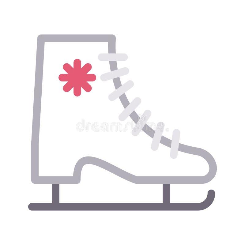 Значок вектора цветного барьера ботинка конька тонкий иллюстрация штока