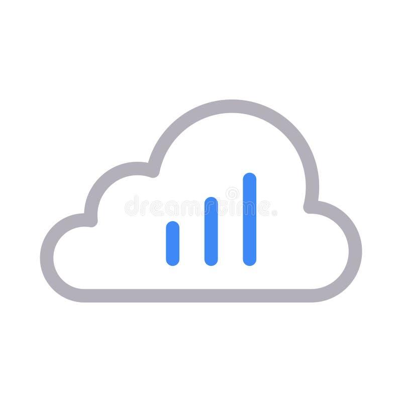 Значок вектора цветного барьера облака диаграммы тонкий иллюстрация штока