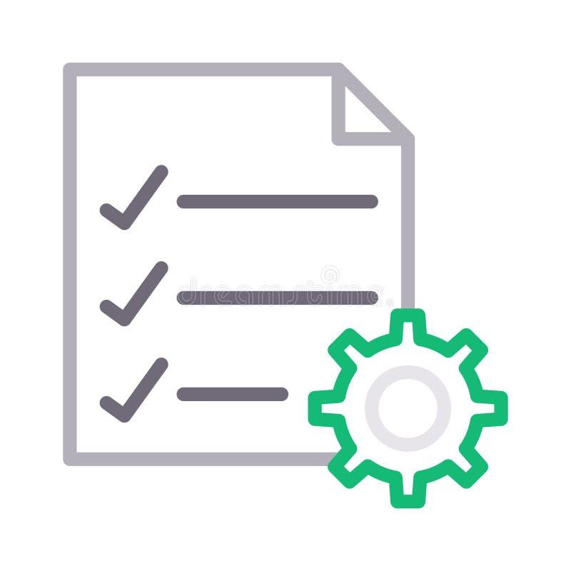 Значок вектора цветного барьера установки контрольного списока тонкий бесплатная иллюстрация