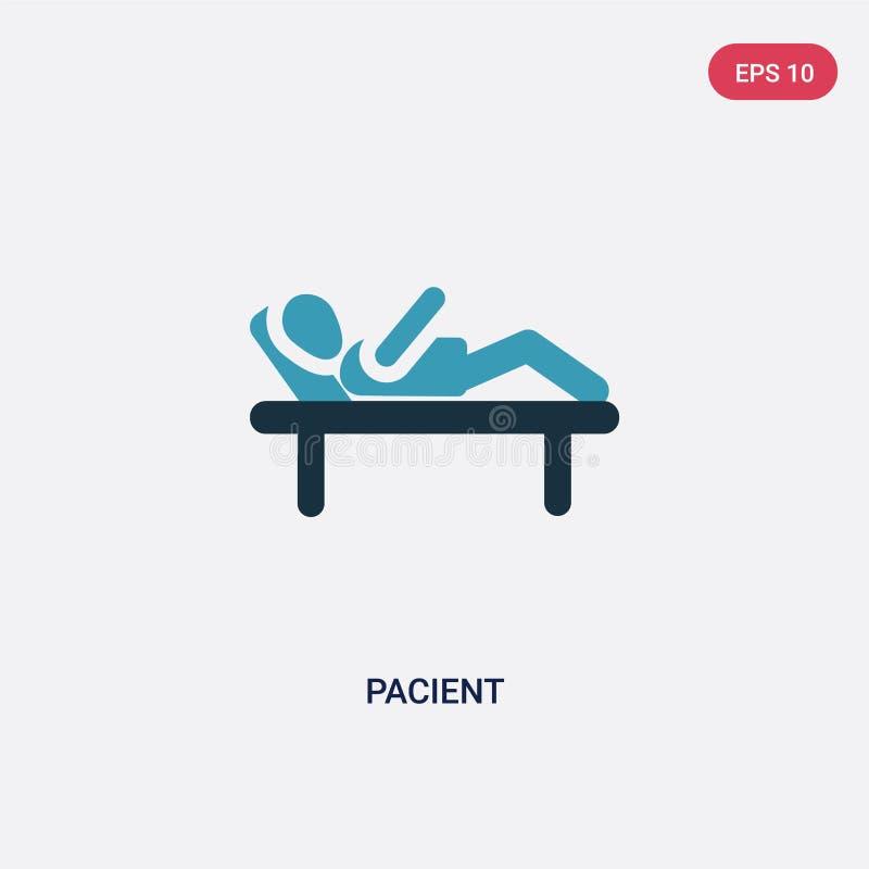 Значок вектора 2 цветов pacient от концепции людей изолированный голубой pacient символ знака вектора может быть пользой для сети иллюстрация штока