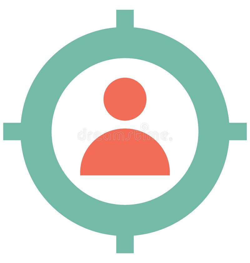 Значок вектора цели клиента изолировал значок вектора который может легко доработать или отредактировать иллюстрация штока