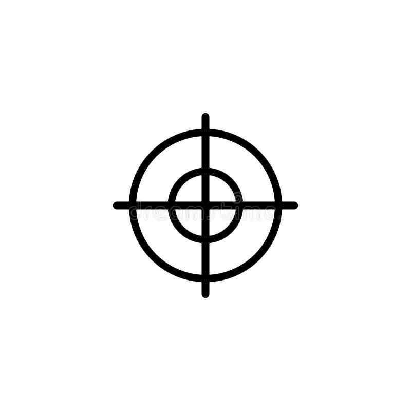 Значок вектора ЦЕЛИ плоский иллюстрация штока