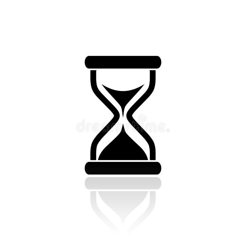 Значок вектора часов иллюстрация вектора