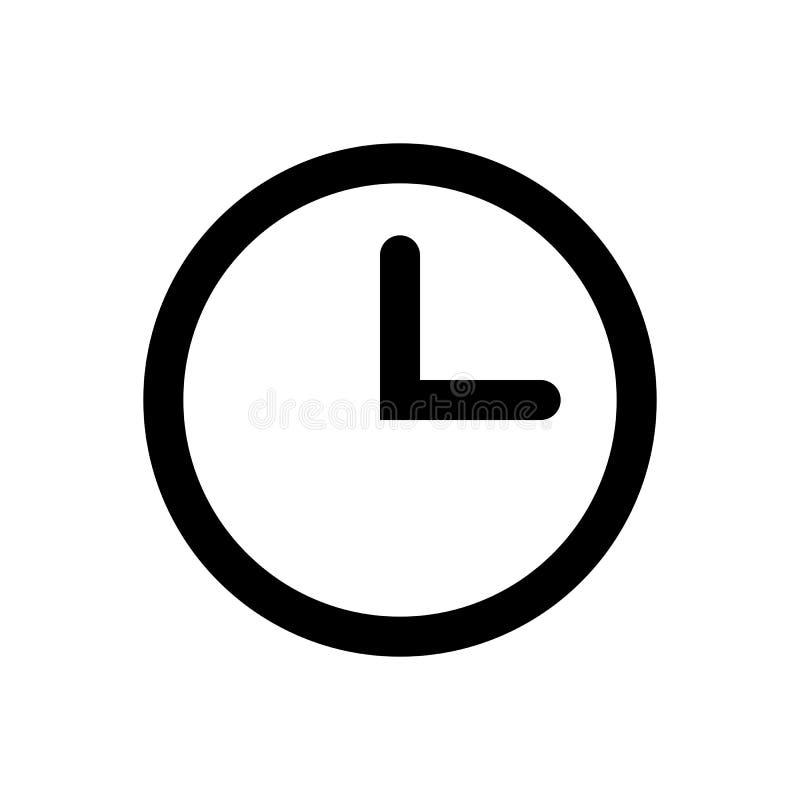 Значок вектора часов иллюстрация штока