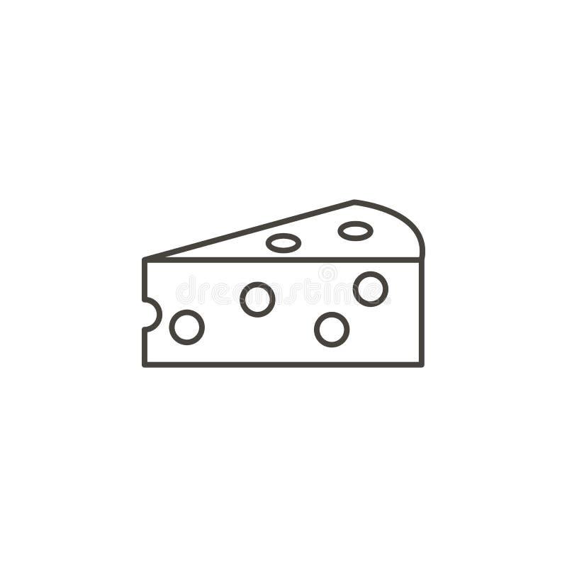 Значок вектора части сыра Простая иллюстрация элемента от концепции еды Значок вектора части сыра Вектор концепции напитка иллюстрация вектора