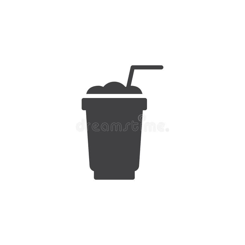 Значок вектора чашки Frappe иллюстрация вектора