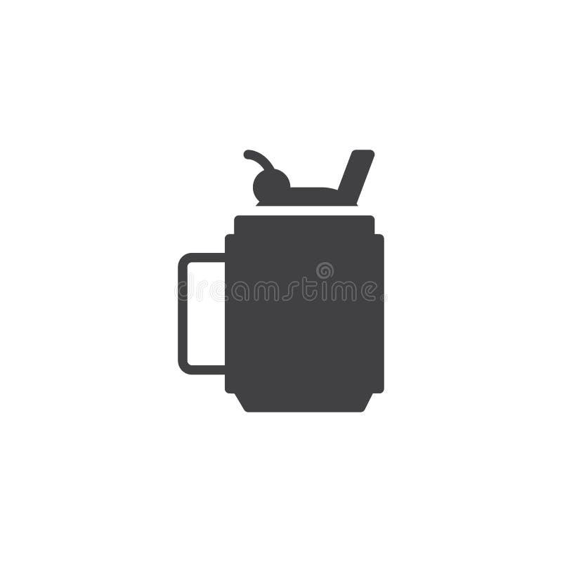 Значок вектора чашки Smoothie иллюстрация вектора