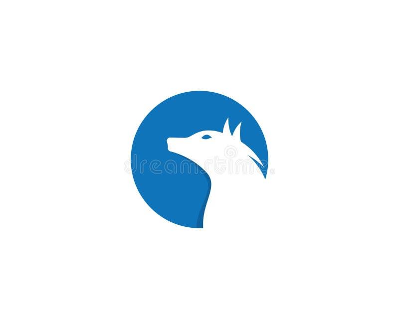 Значок вектора шаблона логотипа волка бесплатная иллюстрация