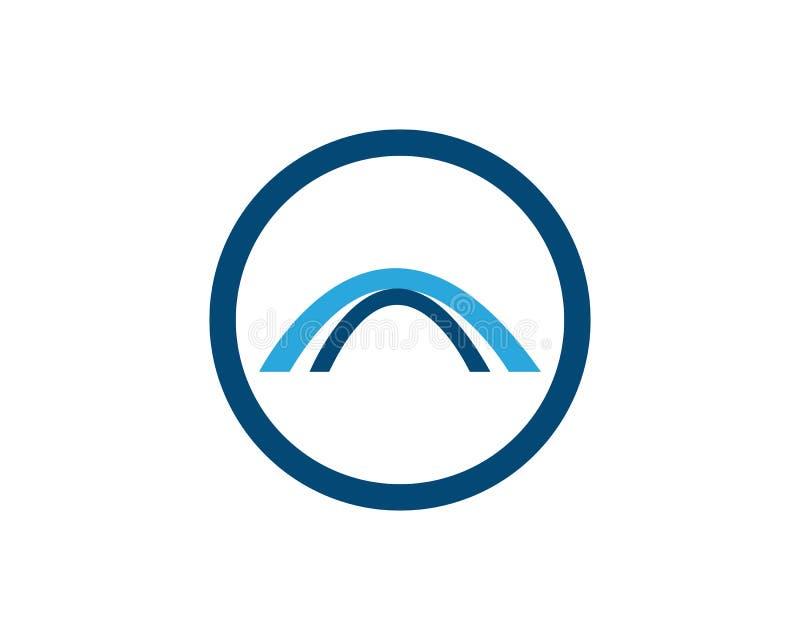 Значок вектора шаблона логотипа моста бесплатная иллюстрация