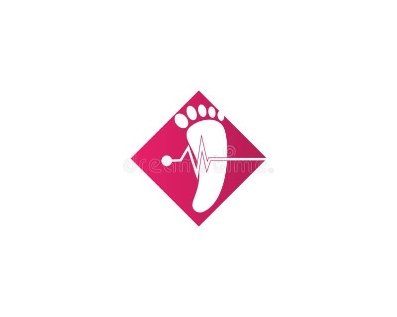 значок вектора шаблона логотипа ноги иллюстрация вектора
