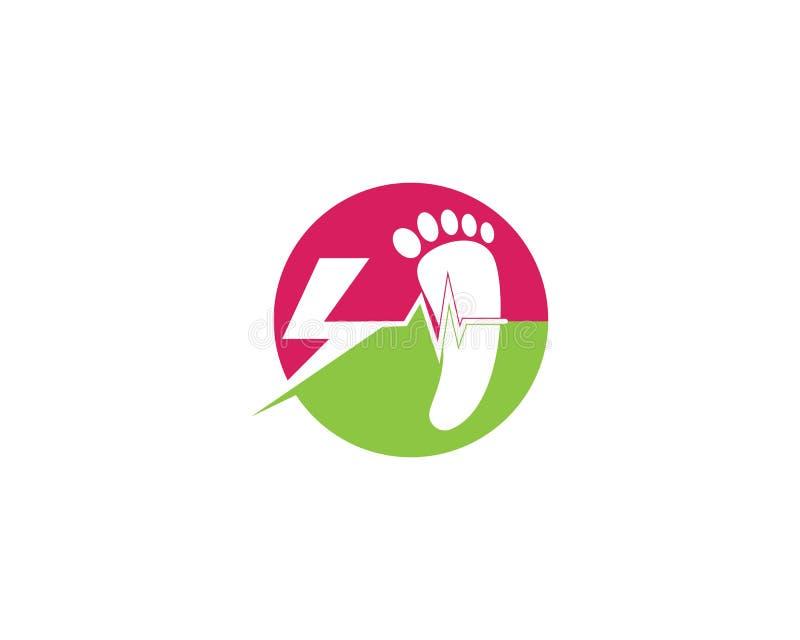 значок вектора шаблона логотипа ноги бесплатная иллюстрация