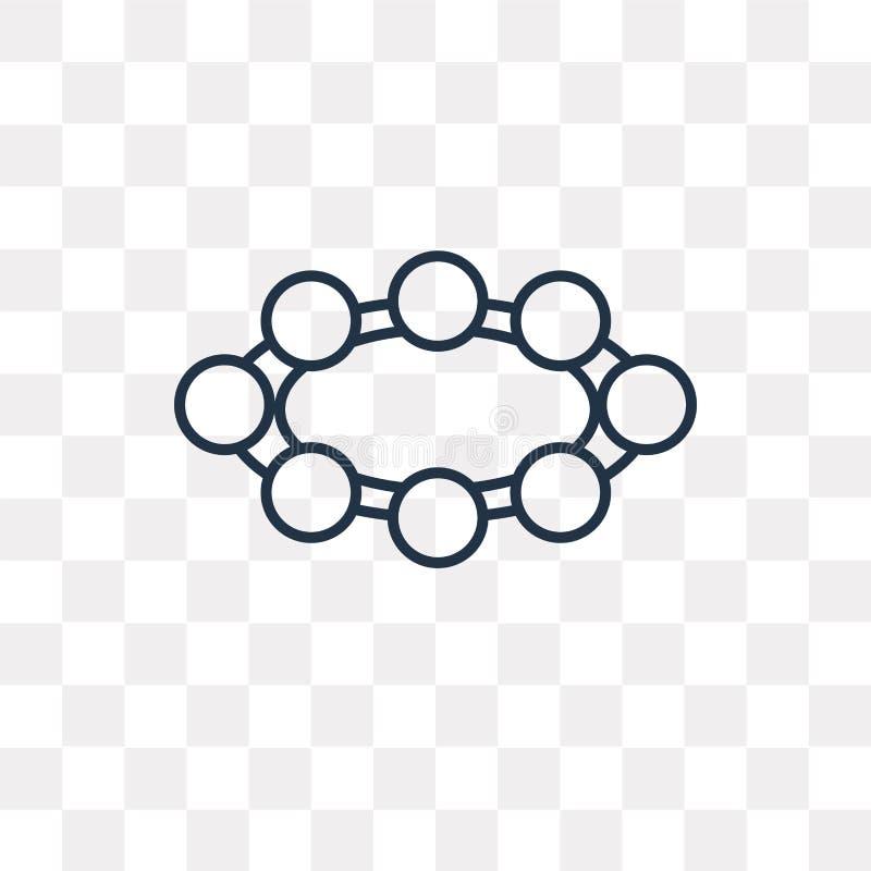 Значок вектора шарика на прозрачной предпосылке, линейном шарике бесплатная иллюстрация