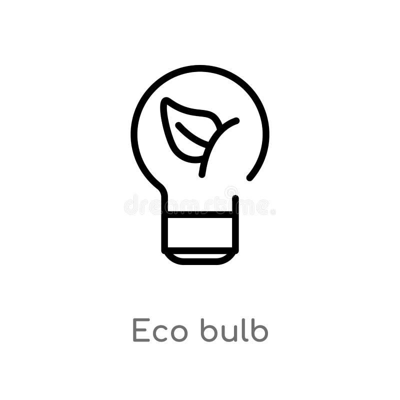значок вектора шарика eco плана изолированная черная простая линия иллюстрация элемента от концепции экологичности editable eco х иллюстрация штока