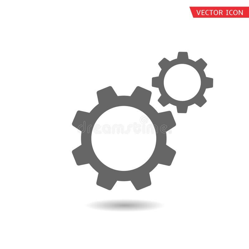 Значок вектора шестерней иллюстрация вектора