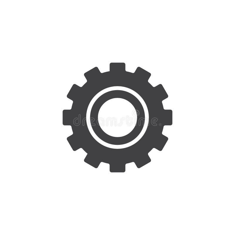 Значок вектора шестерни установок бесплатная иллюстрация