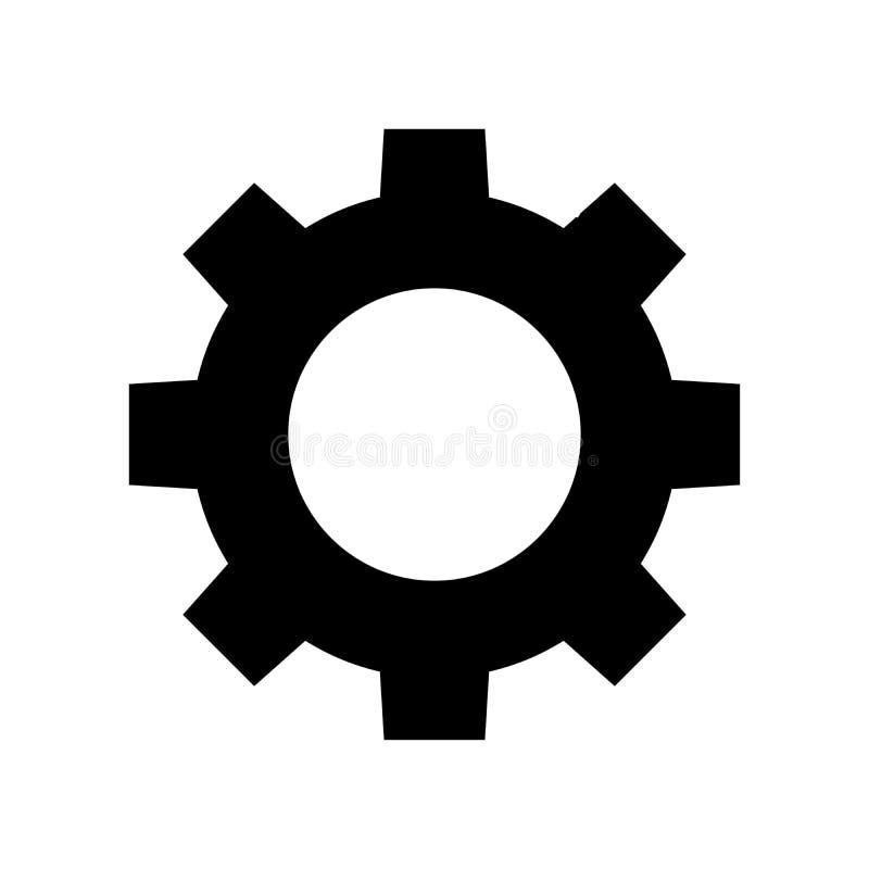 Значок вектора шестерни бесплатная иллюстрация