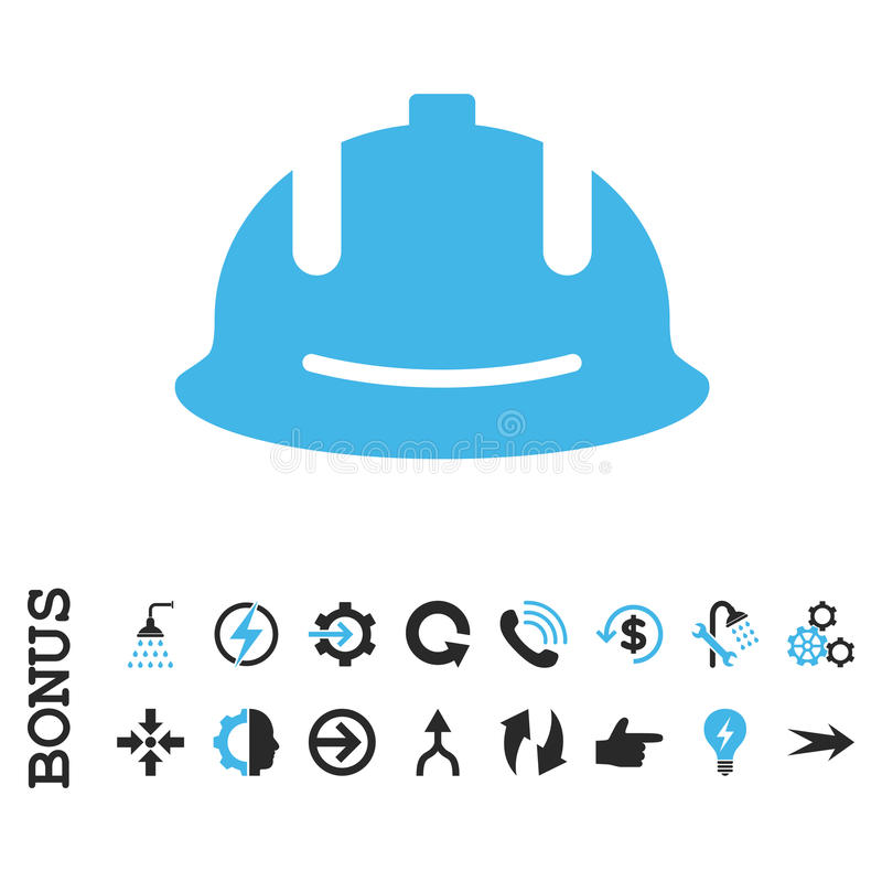 Значок вектора шлема конструкции плоский с бонусом бесплатная иллюстрация
