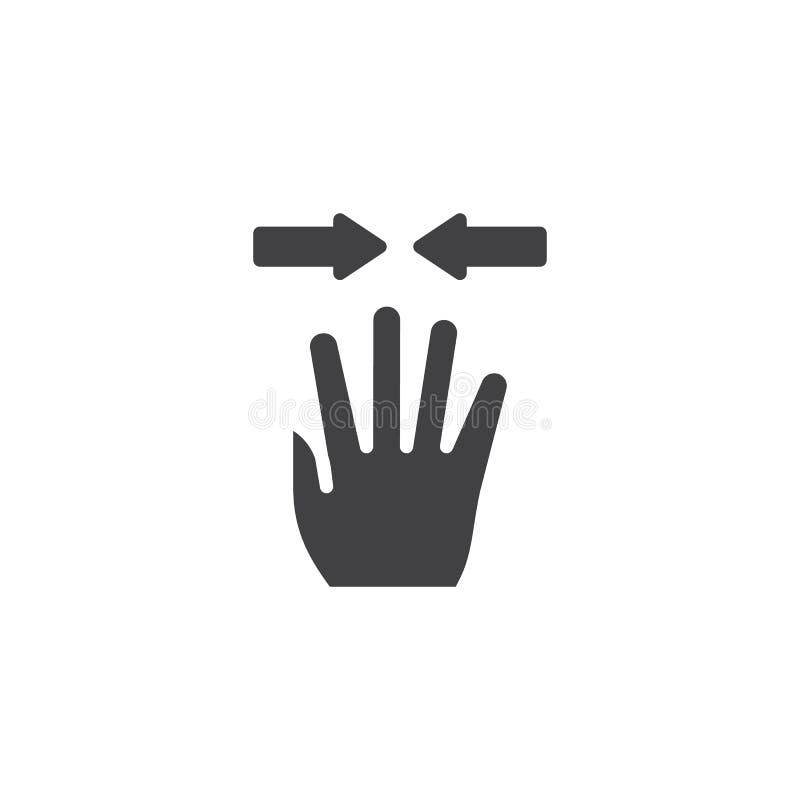 значок вектора щипка 4x иллюстрация вектора
