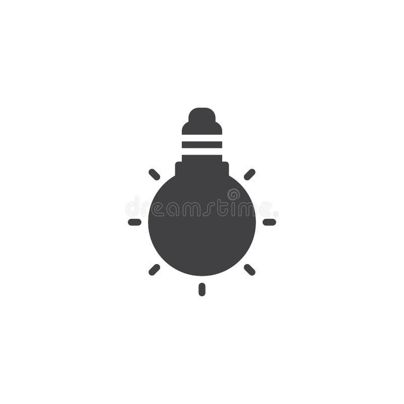 Значок вектора электрической лампочки иллюстрация штока