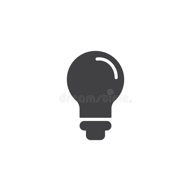 Значок вектора электрической лампочки иллюстрация вектора