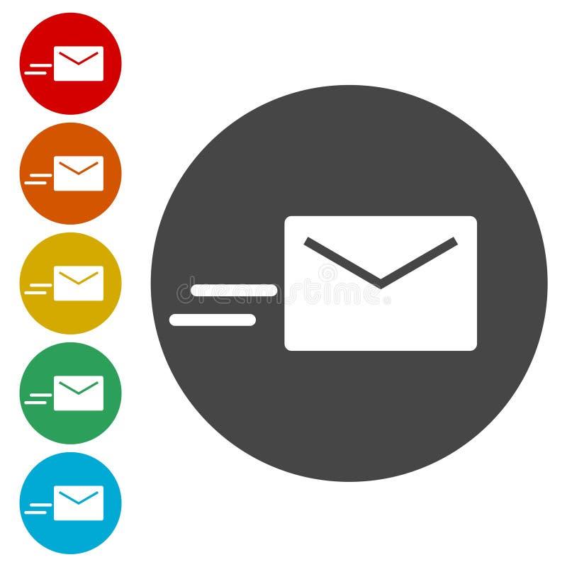 Значок вектора электронной почты, значок электронной почты иллюстрация штока