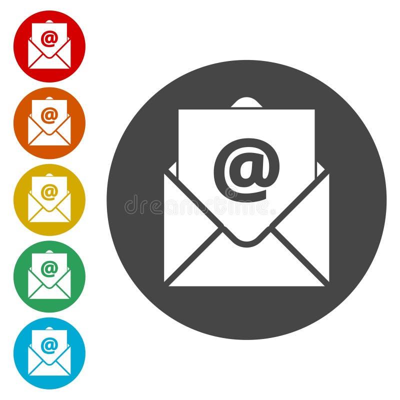 Значок вектора электронной почты, значок электронной почты иллюстрация вектора