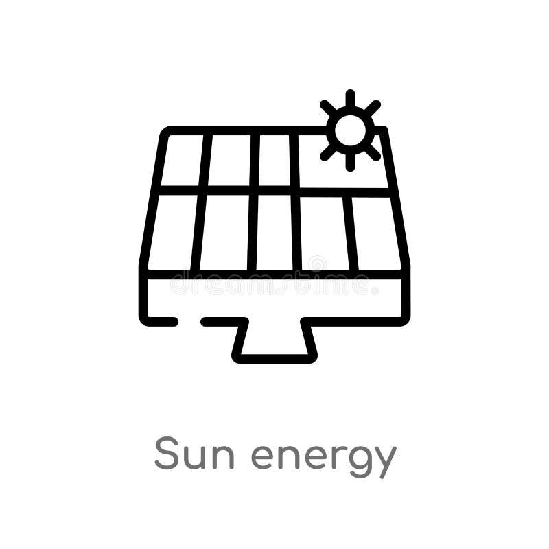 значок вектора энергии солнца плана r o бесплатная иллюстрация