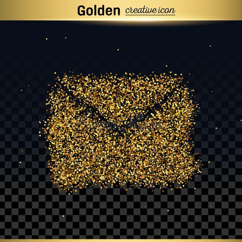 Значок вектора яркого блеска золота иллюстрация вектора